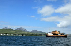 Anchored off the island of Jura
