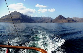 Cuillins of Skye from Scotland Cruise