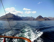The Cuillins of Skye from the sea