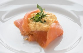 Dunoon smoked salmon and scrambled egg