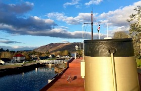Golden Funnel at Fort Augustus by Marina Murray